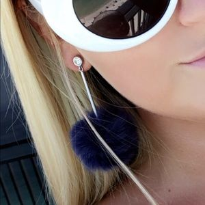 Kate Spade Fur Ball Drop Earrings